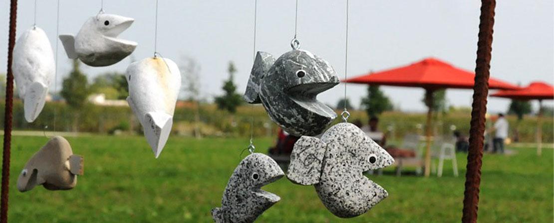 Steinfische zum Hängen